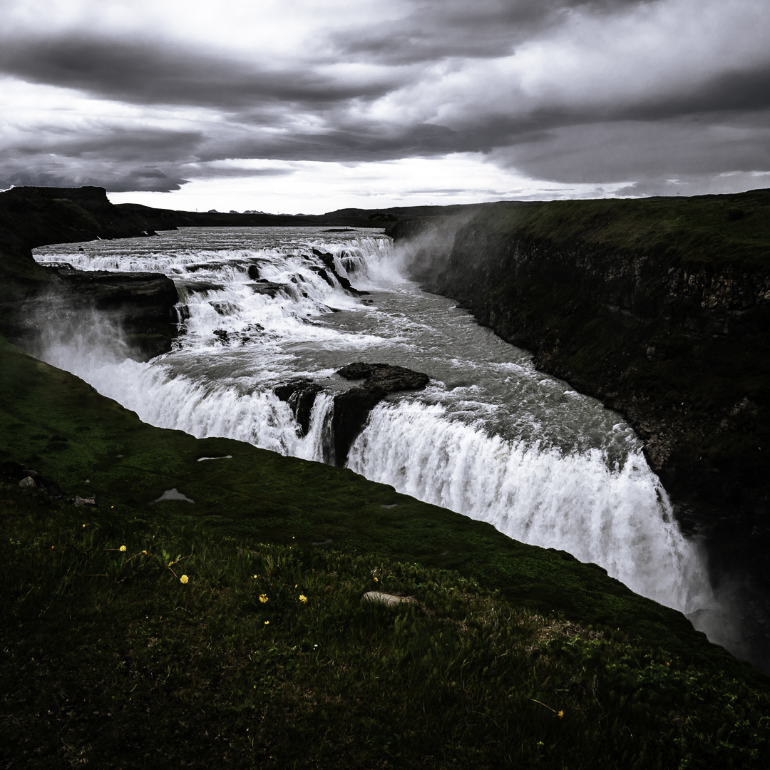 Gullfoss, one of Iceland's strongest waterfalls